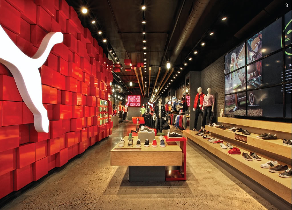 Puma vermont store fixture corporation for Design en interior